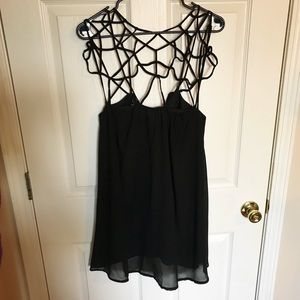 Dresses & Skirts - *Fashion Favorites HP* Caged Neckline Black Dress